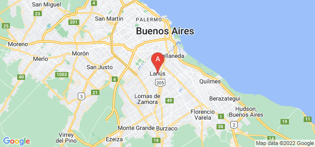 map of Lanús, Argentina