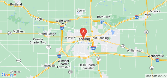 map of Lansing, United States of America