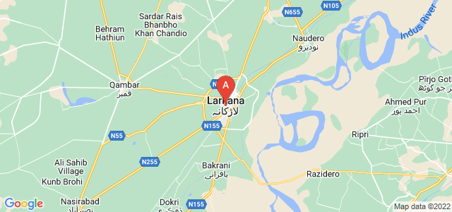 map of Larkana, Pakistan