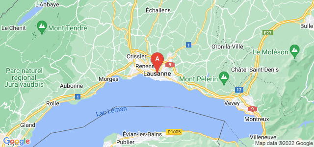 map of Lausanne, Switzerland