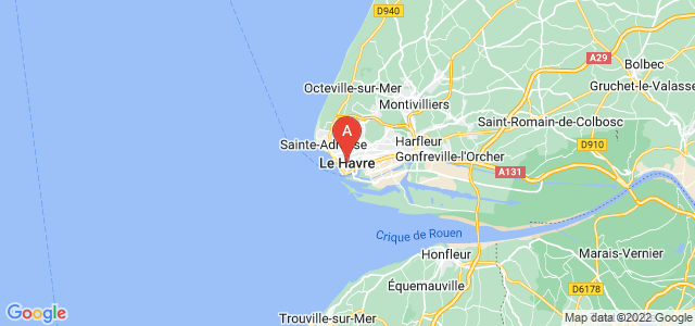 map of Le Havre, France