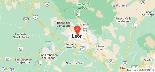 map of Leon, Mexico