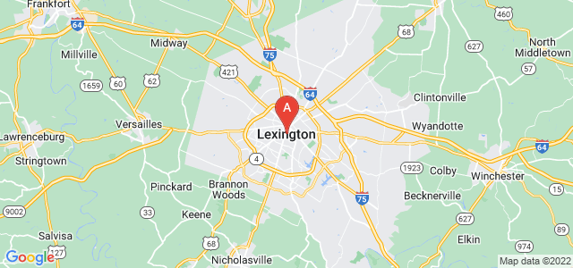 map of Lexington, United States of America