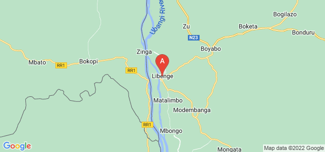 map of Libenge, Democratic Republic of the Congo