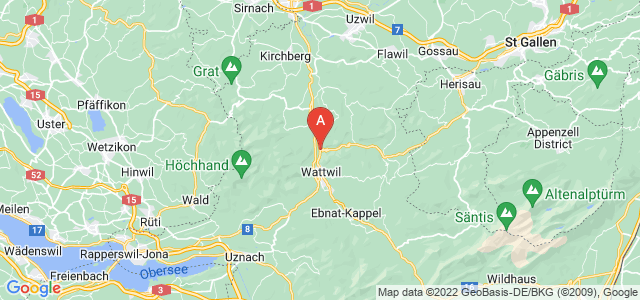 map of Lichtensteig, Switzerland