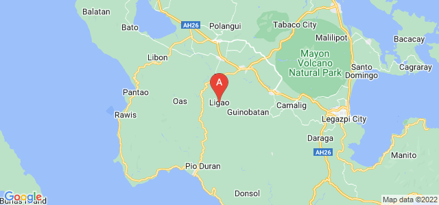 map of Ligao, Philippines