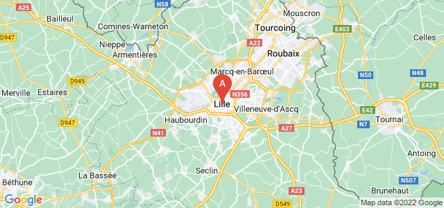 map of Lille, France