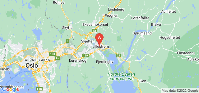 map of Lillestrøm, Norway