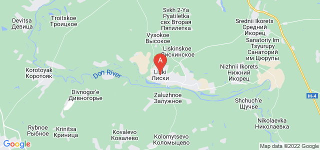 map of Liski, Russia