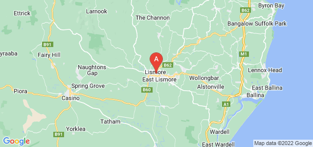 map of Lismore, Australia