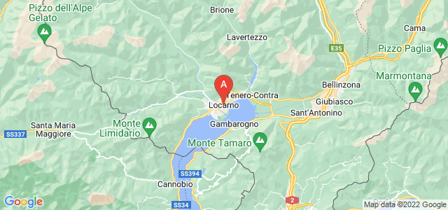 map of Locarno, Switzerland