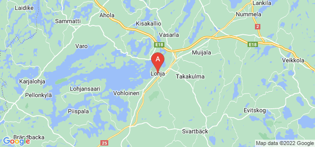 map of Lohja, Finland