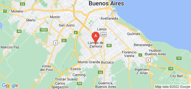 map of Lomas de Zamora, Argentina