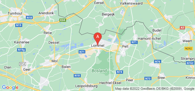 map of Lommel, Belgium