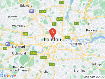 map of London, United Kingdom