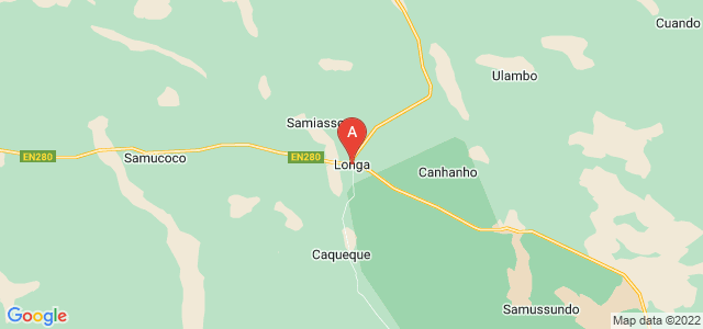 map of Longa, Angola