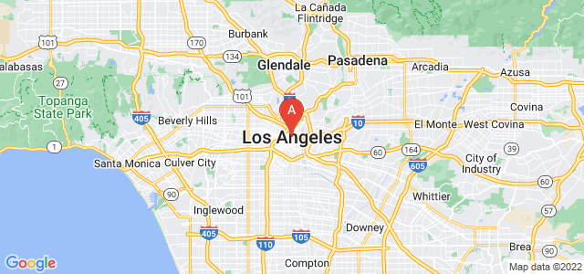 map of Los Angeles, United States of America