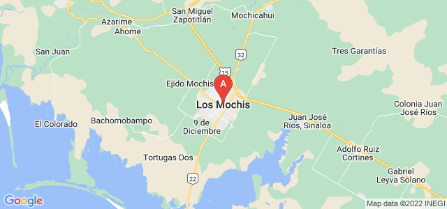 map of Los Mochis, Mexico