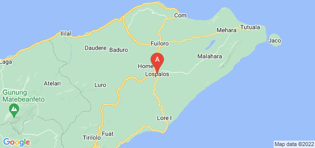 map of Lospalos, East Timor