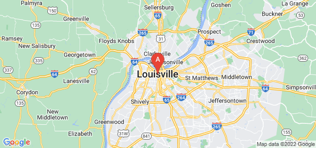 map of Louisville, United States of America