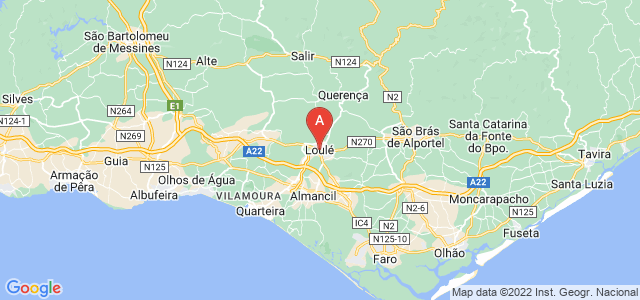 map of Loulé, Portugal