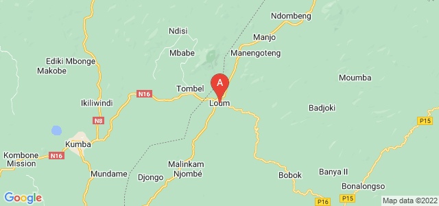 map of Loum, Cameroon