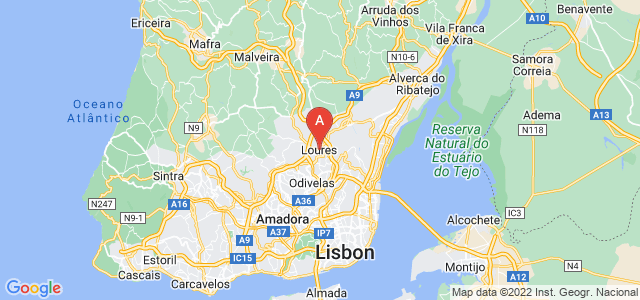 map of Loures, Portugal