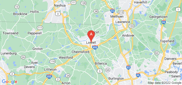 map of Lowell, United States of America