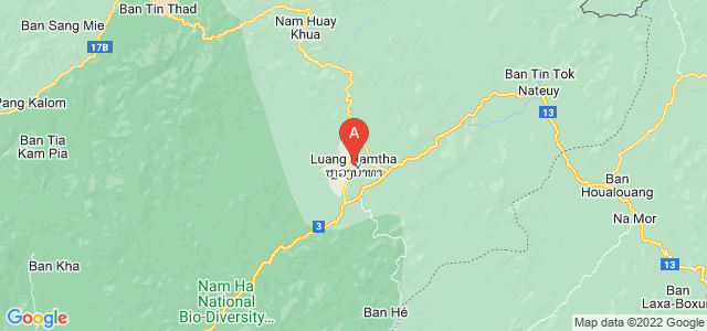 map of Luang Namtha, Laos