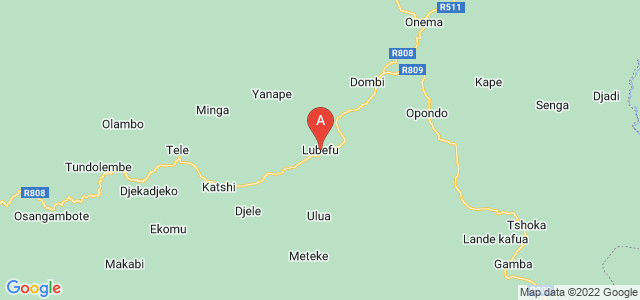 map of Lubefu, Democratic Republic of the Congo