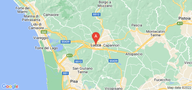 map of Lucca, Italy