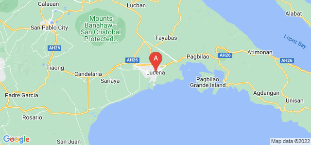 map of Lucena, Philippines