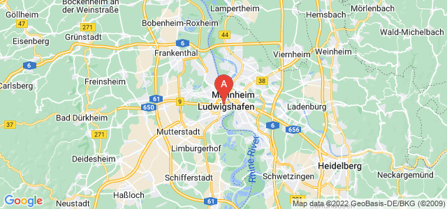 map of Ludwigshafen, Germany