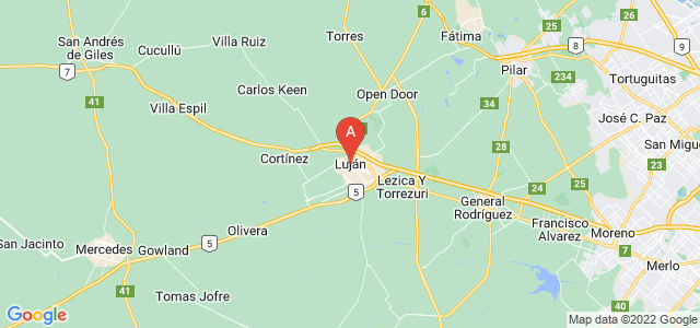 map of Luján, Argentina