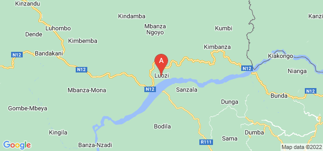 map of Luozi, Democratic Republic of the Congo