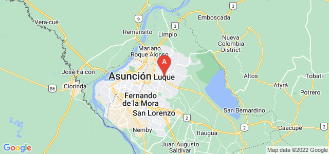 map of Luque, Paraguay