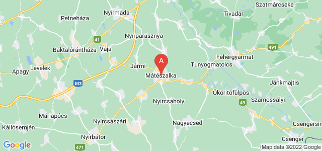 map of Mátészalka, Hungary