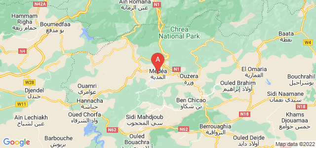 map of Médéa, Algeria
