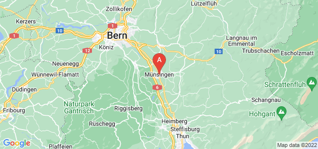 map of Münsingen, Switzerland