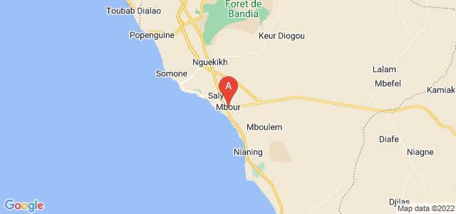 map of M'Bour, Senegal