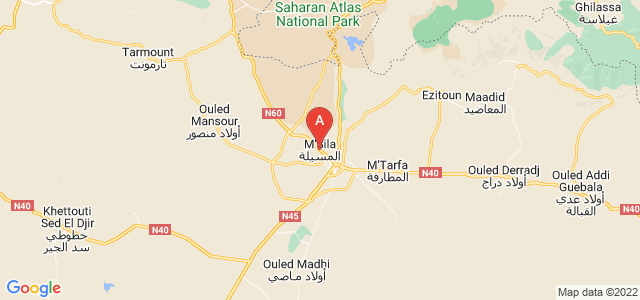 map of M'Sila, Algeria