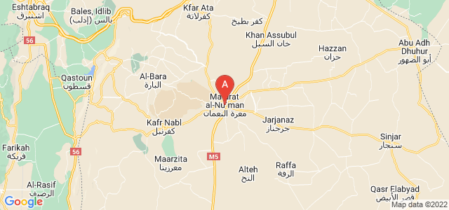 map of Maarat al-Numaan, Syria