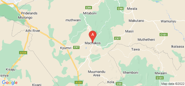 map of Machakos, Kenya