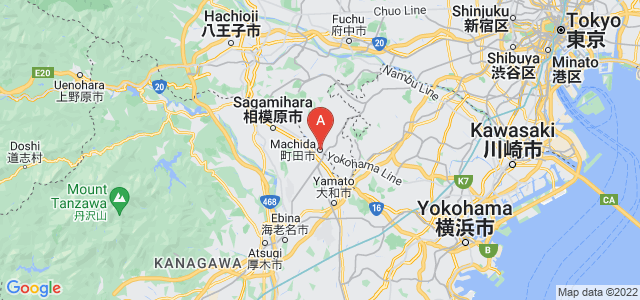 map of Machida, Japan