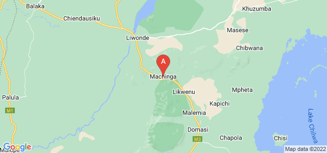 map of Machinga, Malawi