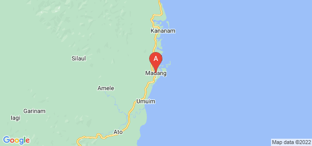 map of Madang, Papua New Guinea