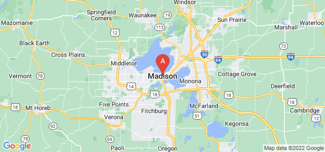 map of Madison, United States of America
