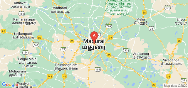 map of Madurai, India