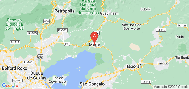 map of Magé, Brazil