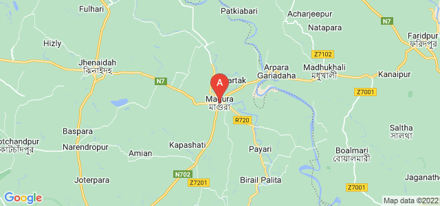 map of Magura, Bangladesh